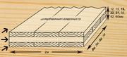 Деревянная трехслойная плита из цельной   древесины.