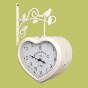 Часы настенные для дома и дачи металлические двусторонние уличные